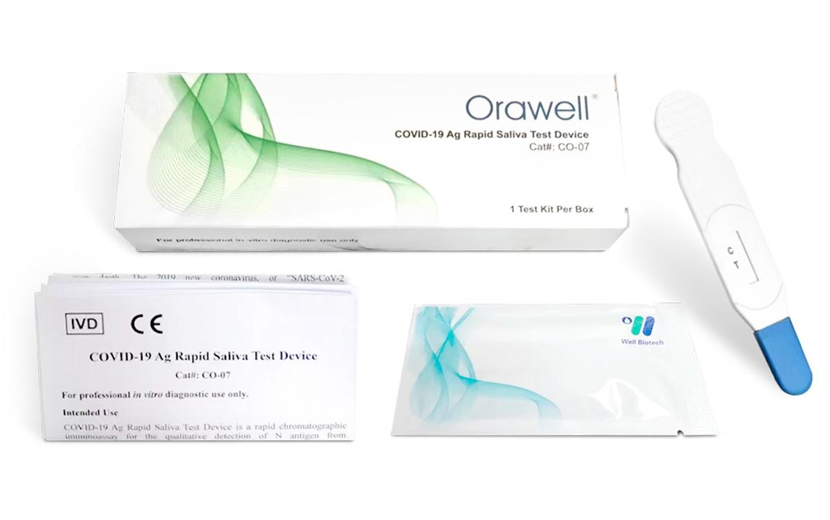 Well Biotech Orawell Coronavirus COVID-19 Antigen Rapid Saliva Test Device - Carbon Medical